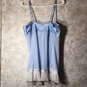 Seduction Wear by Cinema Intimates & Sleepwear - Medium Light Blue Baby Doll sexy nightgown set!